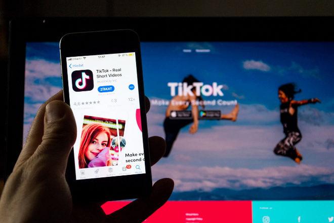 Aplicación de Tik Tok.