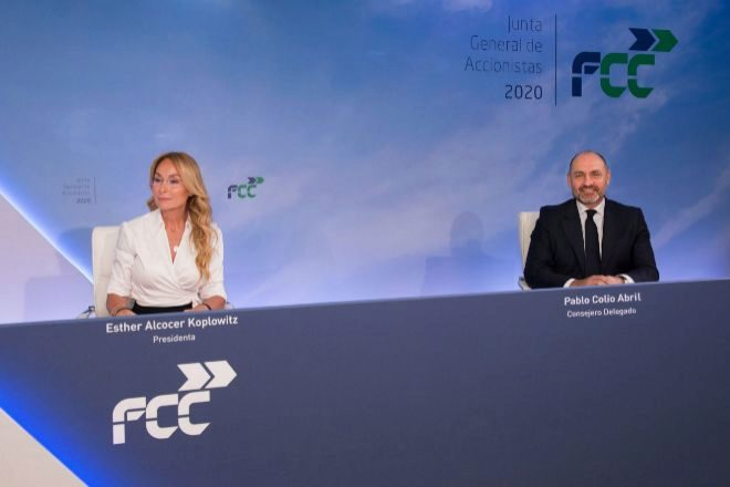 Junta de accionistas de FCC celebrada ayer.