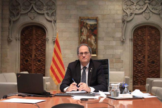 El presidente de la Generalitat, Quim Torra, en una imagen de archivo...