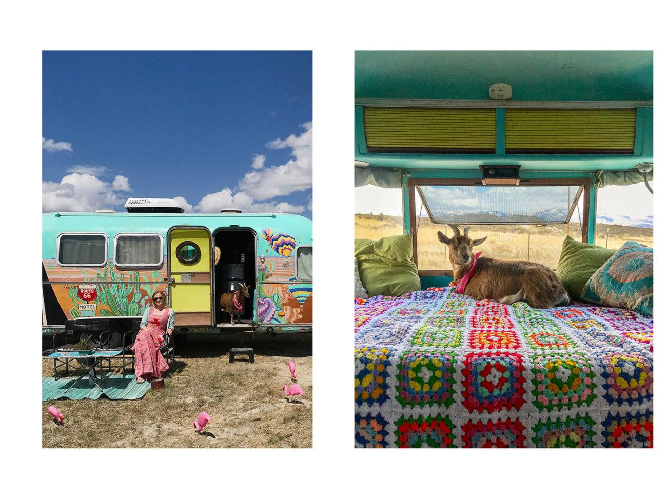 Esta escritora vive con su marida y su cabra Frankie en una caravana....