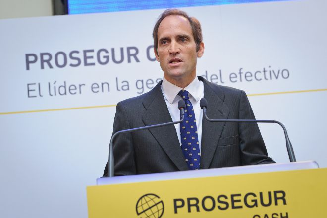 El consejero delegado de Prosegur y presidente de Prosegur Cash,...