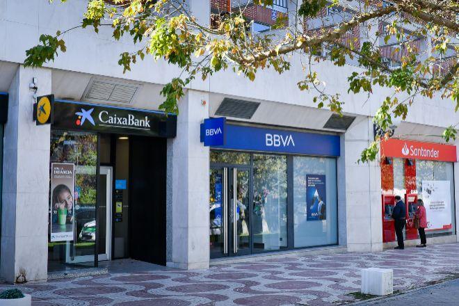Oficinas bancarias.