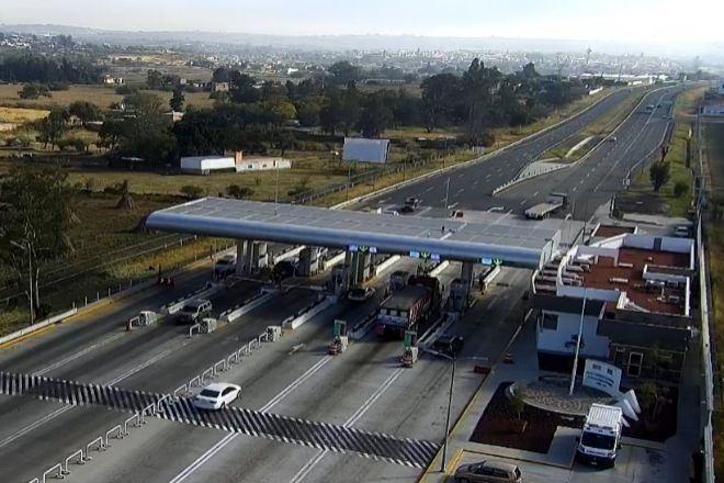 Peaje de la autopista mexicana Autopista Zapotlanejo-Guadalajara,...
