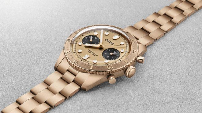 Es el primer reloj Swiss Made con brazalete de bronce sólido.