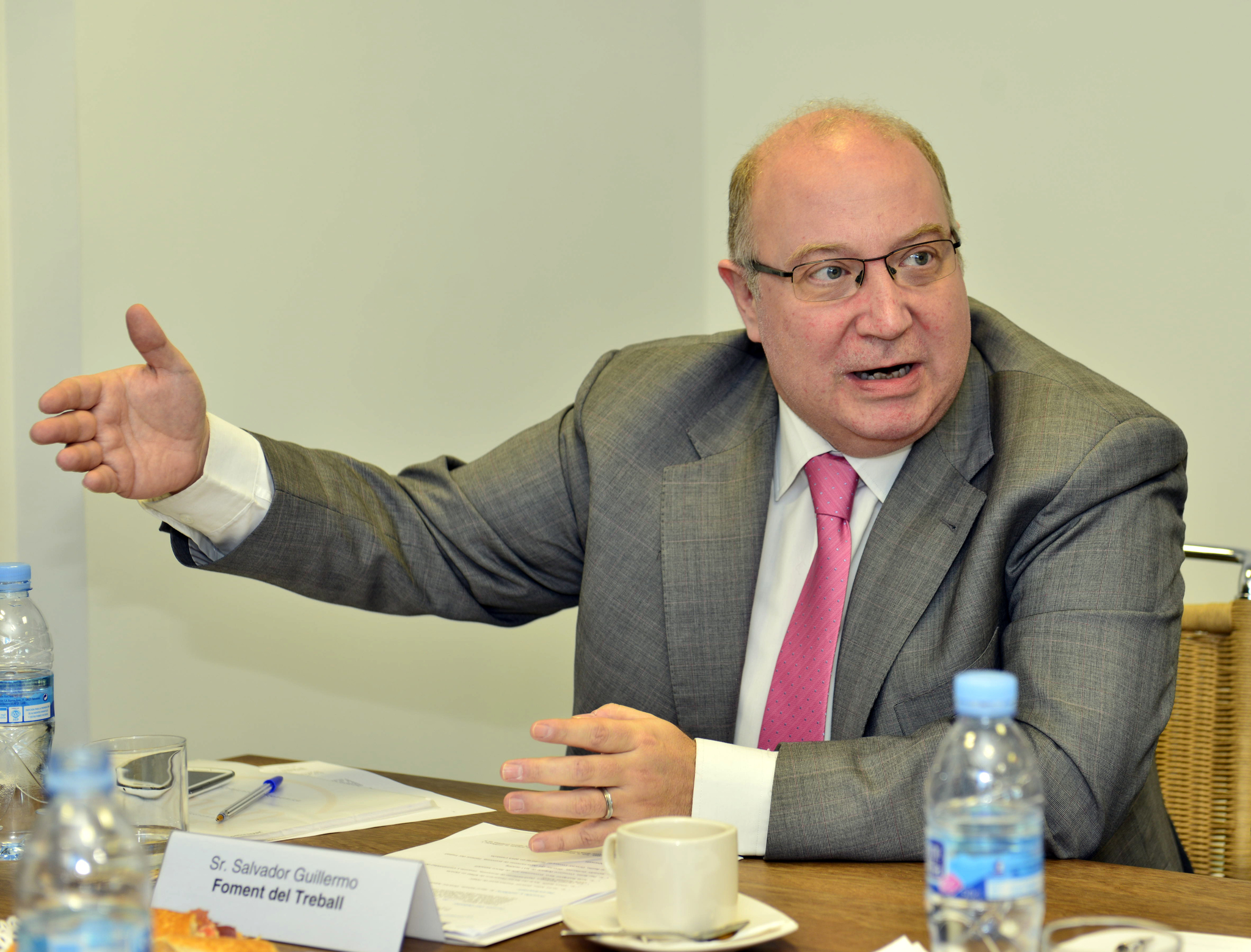 El secretario general adjunto de Fomento del Trabajo, Salvador...