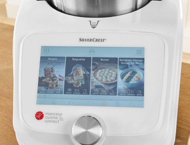 Las recetas están disponibles a través de la pantalla LCD.