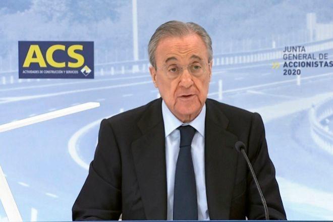 Florentino Pérez es el presidente de ACS.