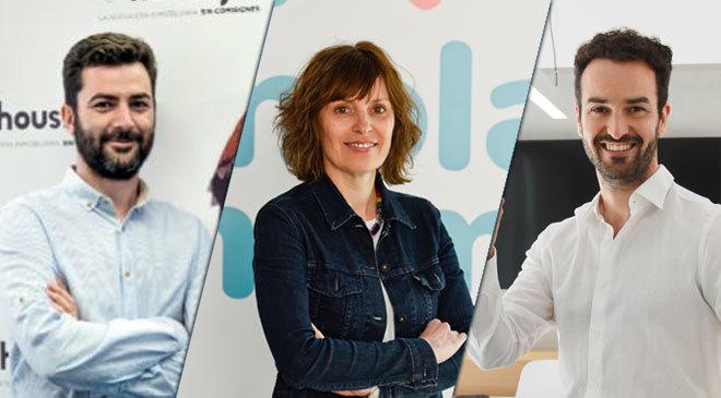 De izquierda a derecha,  Albert Bosch, cofundador y CEO de Housfy;...