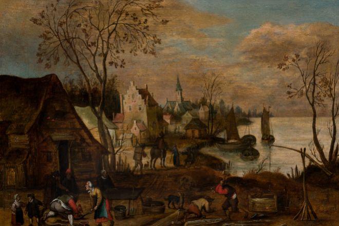 <strong>Pintura antigua</strong>. Un paisaje de Jan Brueghel, El Viejo.