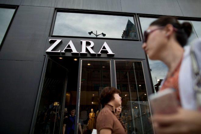 Foto de archivo de una tienda de Zara en Pekín.