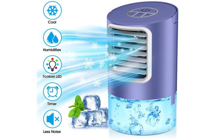 Haz que el calor sea más llevadero con un equipo de aire acondicionado portátil, un ventilador de pie o un climatizador