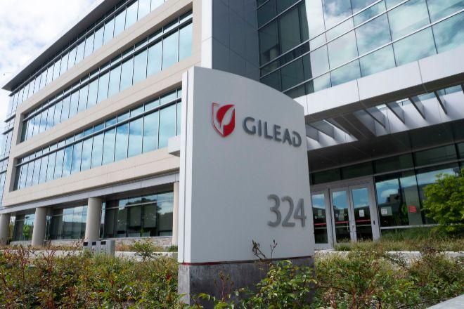 Sede de Gilead Sciences, fabricante del remdesivir, en Foster City...