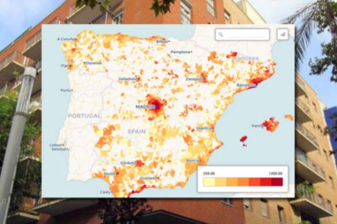 ¿Cómo está el precio del alquiler por municipios?