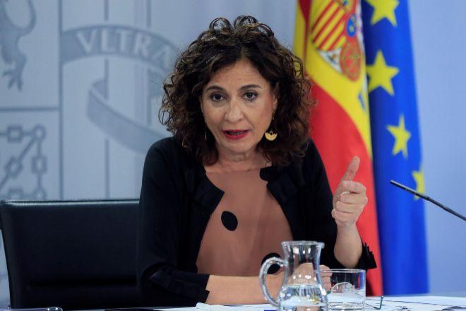 La ministra de Hacienda y portavoz del Gobierno, María Jesús Montero, en el Consejo del Ministros del pasado martes.
