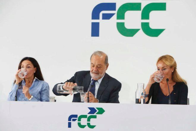 Imagen de archivo del Investor Day de FCC, con Carlos Slim en el...