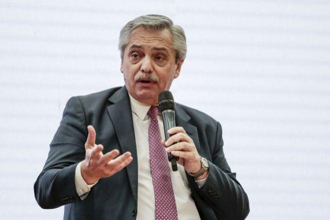 El presidente argentino Alberto Fernández. BLOOMBERG NEWS EXPANSION