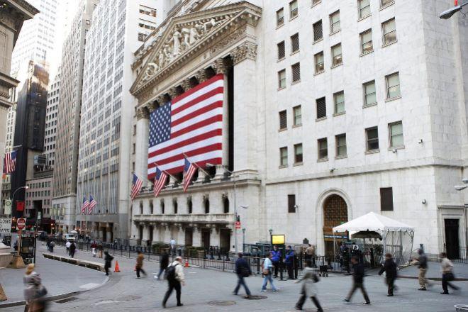 Bolsa de Nueva York, en Wall Street.