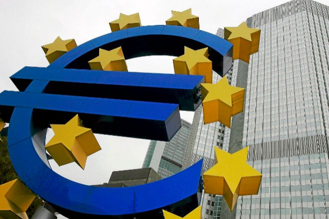 Eurotower, sede del área de supervisión bancaria del Banco Central...