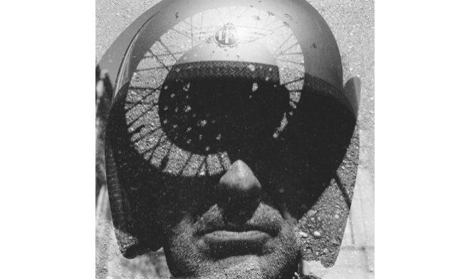 """""""Autorretrato moto dadaísta"""" (2014), Alberto García-Alix. Tamaño: 47x47. Técnica: barite paper."""