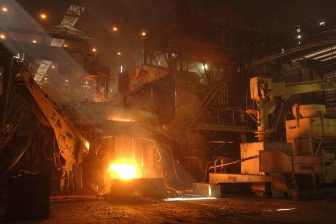 Planta siderúrgica del grupo Gallardo en Badajoz.