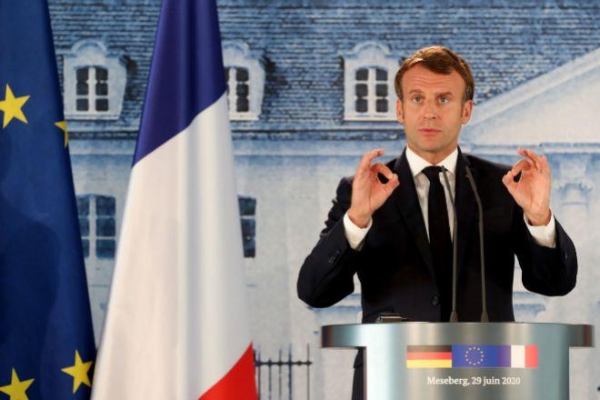 Emmanuel Macron, presidente de Francia, en una de sus últimas...