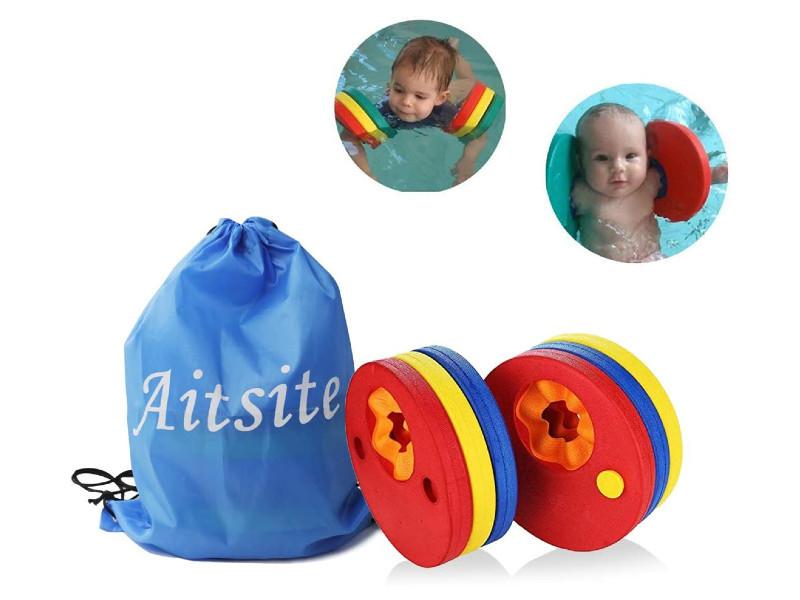 Máscaras para bucear, manguitos, chalecos, aletas y otros complementos y juegos para que los niños estén seguros y entretenidos en el agua