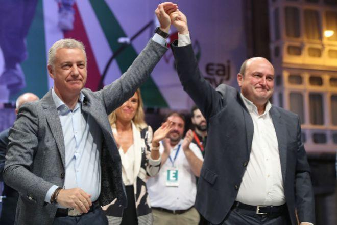 El PNV gana las elecciones vascas con 31 escaños y necesitará pactar para gobernar