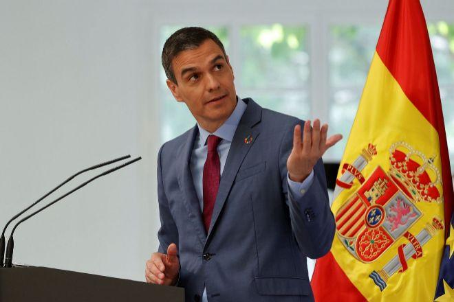 El presidente del Gobierno, Pedro Sánchez, el pasado jueves durante la presentación del Plan para reforzar el Sistema de Ciencia, Tecnología e Innovación en España.