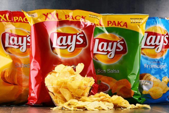 Bolsas de patatas Lays de Pepsico.