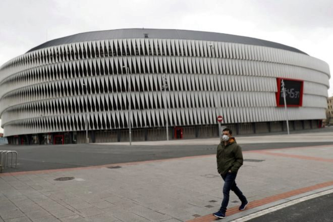 Vista del estadio de San Mamés.