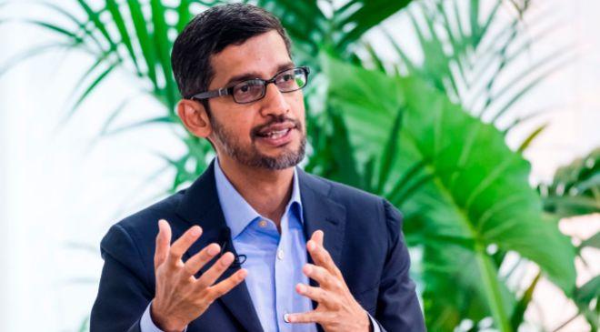 Sundar Pichai, CEO de Alphabet, matriz de Google.