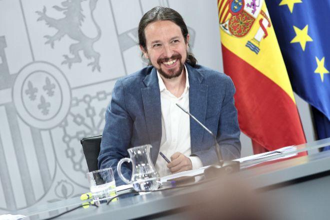 El vicepresidente y ministro de Derechos Sociales y Agenda 2030, Pablo Iglesias, tras un Consejo de Ministros.