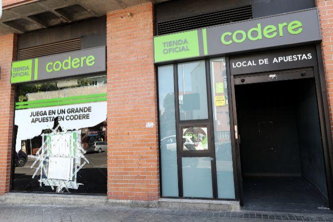 Local de apuestas de Codere, en Madrid.