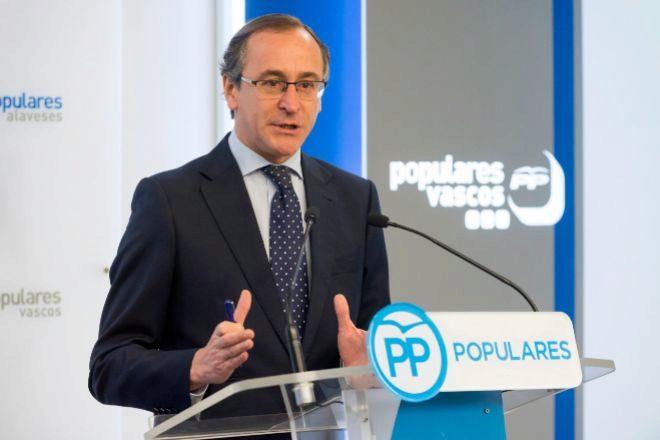 El ex presidente del PP vasco, Alfonso Alonso.