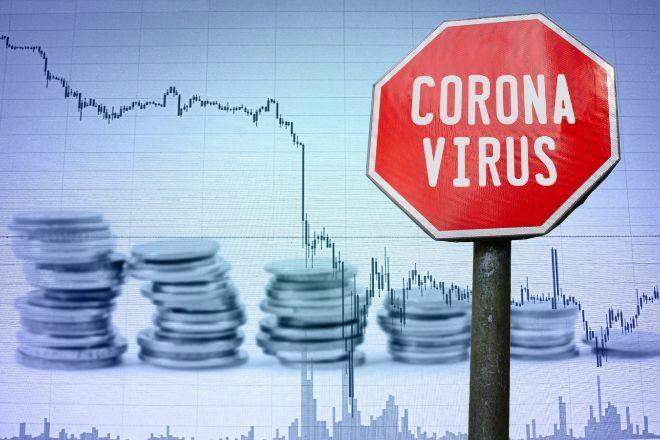 Ilustración de las caídas sufridas a raíz del coronavirus