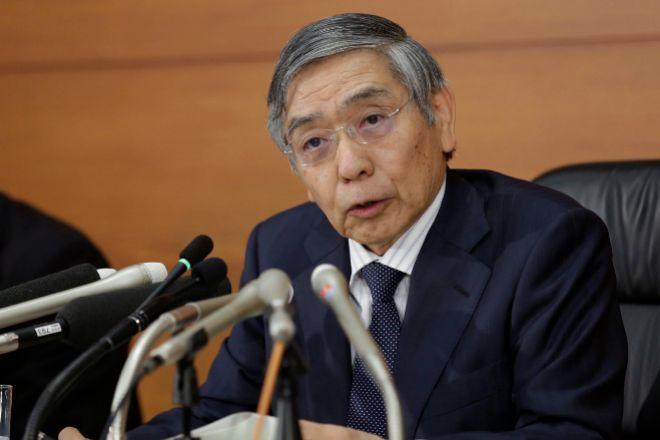 El gobernador del Banco de Japón, Haruhiko Kuroda.