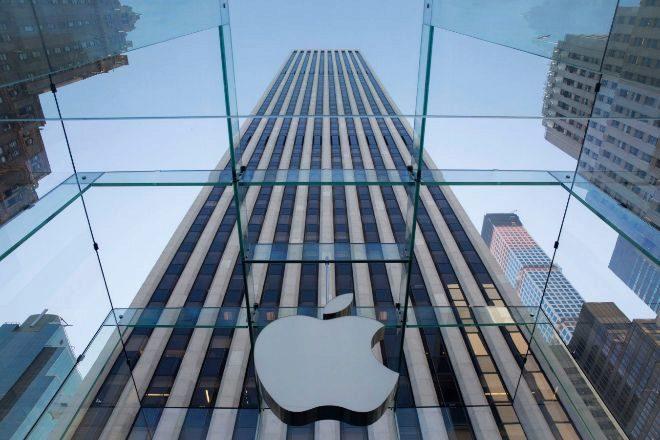 Logo de Apple en Nueva York
