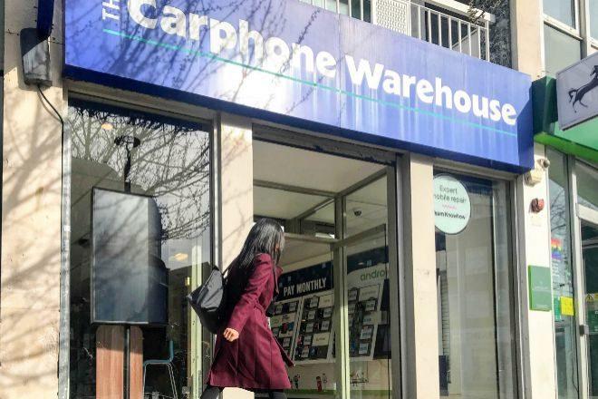 Tienda de la cadena Dixons Carphone en Reino Unido