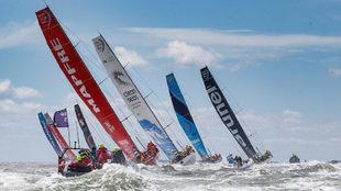 La flota de la última Volvo Ocean Race. | Jesús Renedo/ Volvo AB