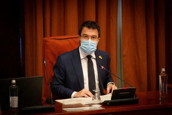 El vicepresidente de la Generalitat Pere Aragonés. EP