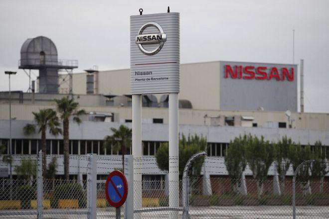Vista exterior de la planta de Nissan en la zona franca de Barcelona.