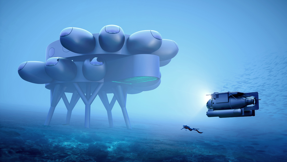 Fabien Cousteau's PROTEUS. Concept designs by Yves Béhar and...