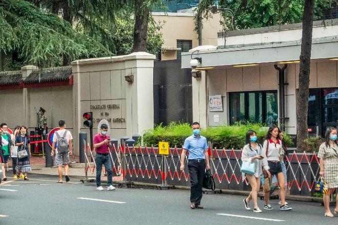 Consulado de EEUU en la ciudad china de Chengdu.