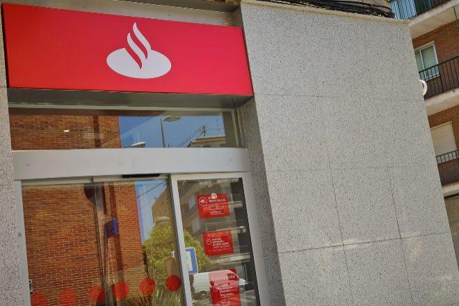 Oficina de Banco Santander en Madrid.