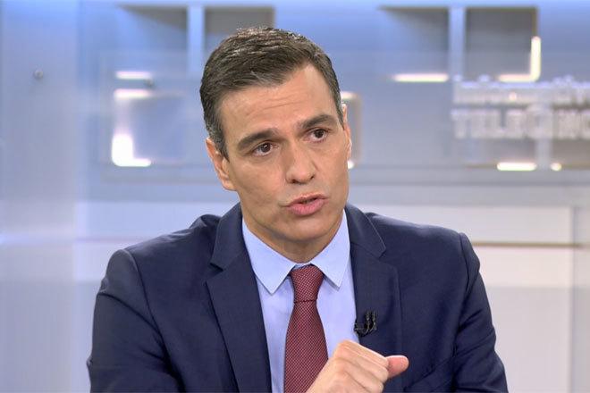 El presidente del Gobierno, Pedro Sánchez, durante la entrevista.