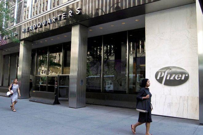 Sede de Pfizer en Nueva York (Estados Unidos).