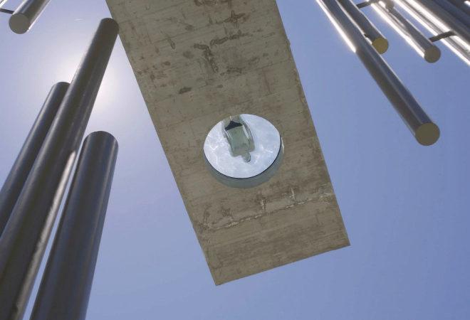 El diámetro del óculo del suelo es de 1,5 metros.