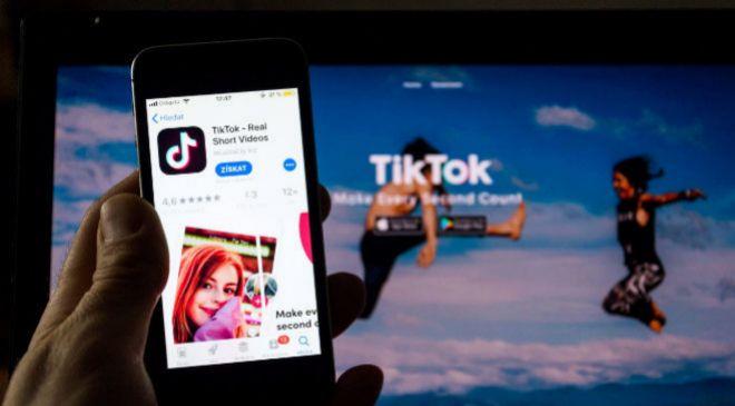 Aplicación de TikTok.