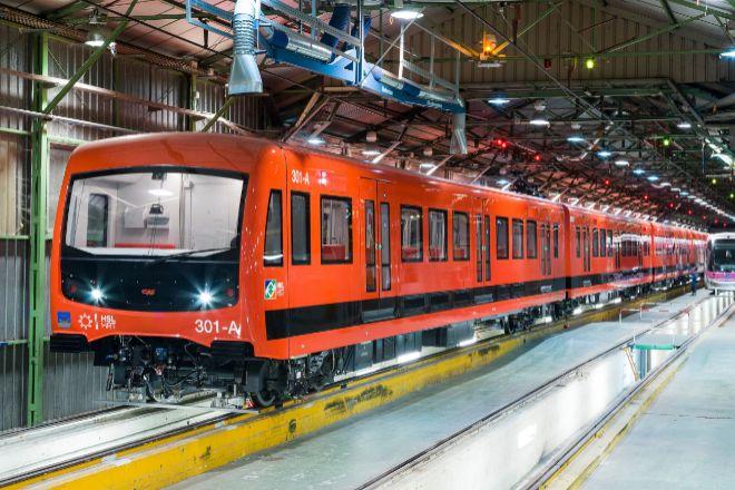 Vagón de Metro fabricado por CAF.