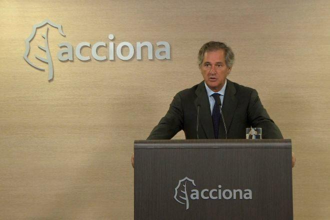 José Manuel Entrecanales, presidente de Acciona, durante la junta de...